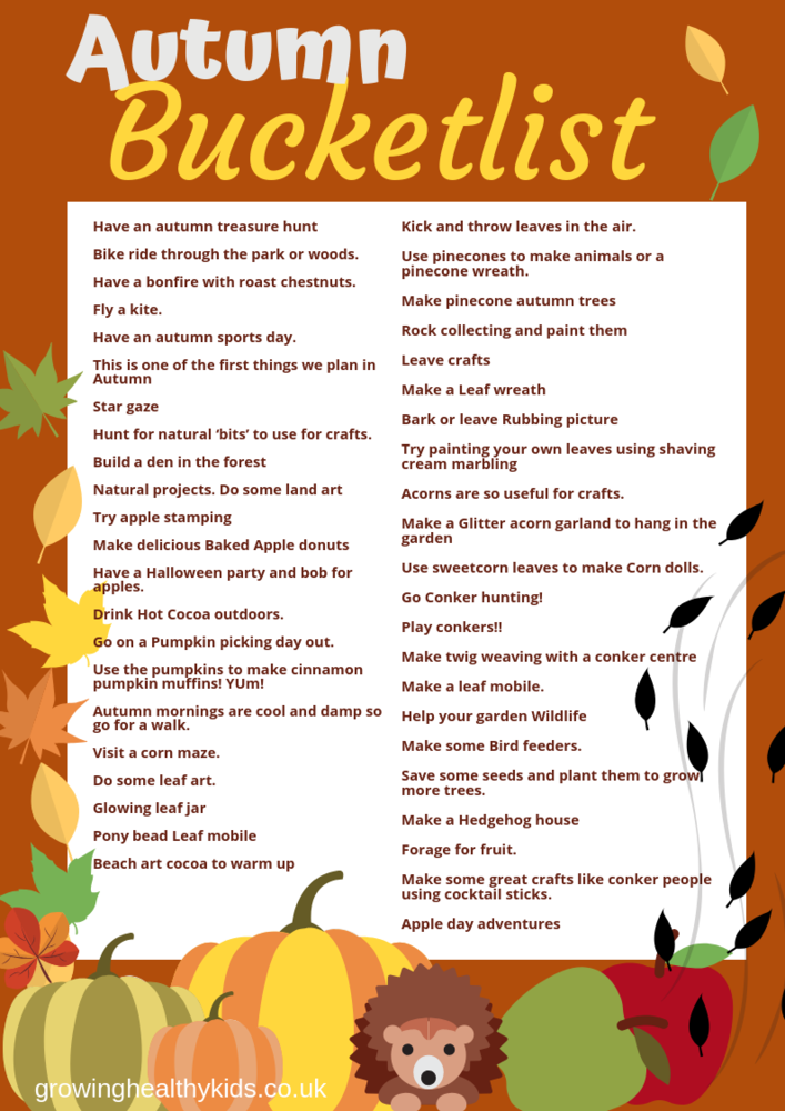 Autumn bucketlist