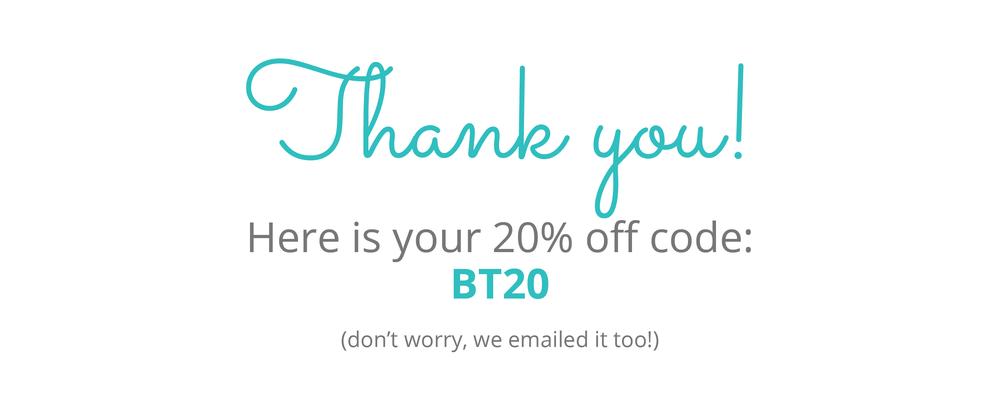 15% off code