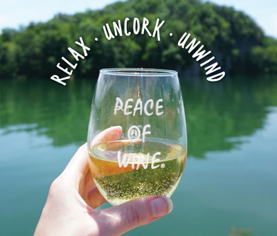 relax uncork unwind with peace of wine merchandise