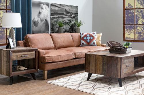 leather furniture room