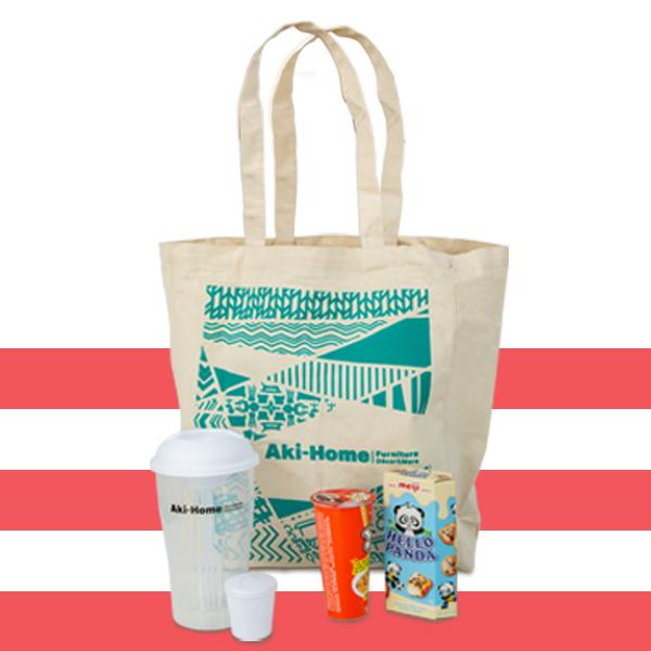 gift bag with snacks