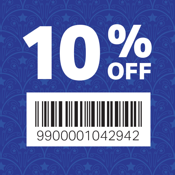 10% off barcode