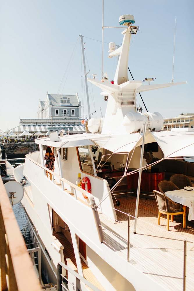 Image of Jackie O Luxury Yacht with Waterfront Background