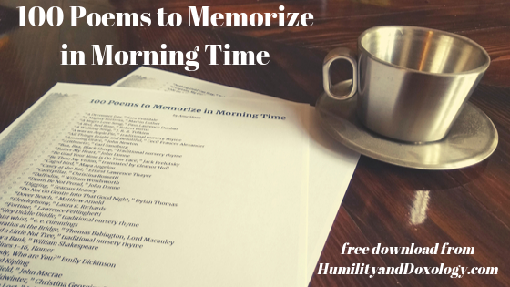 Free 100 Poems for Morning Time List!
