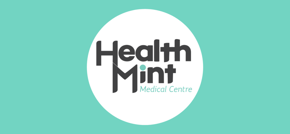 HealthMint medical centre logo in circle