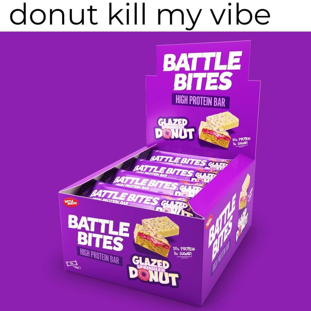 battle bites sprinkled donut
