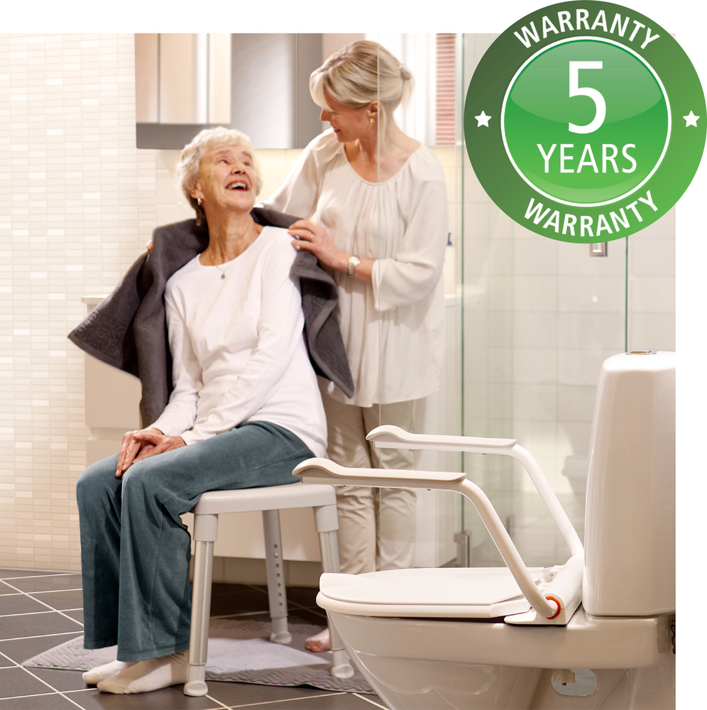 Etac provides 5 year warranty in their mobility and hygiene products