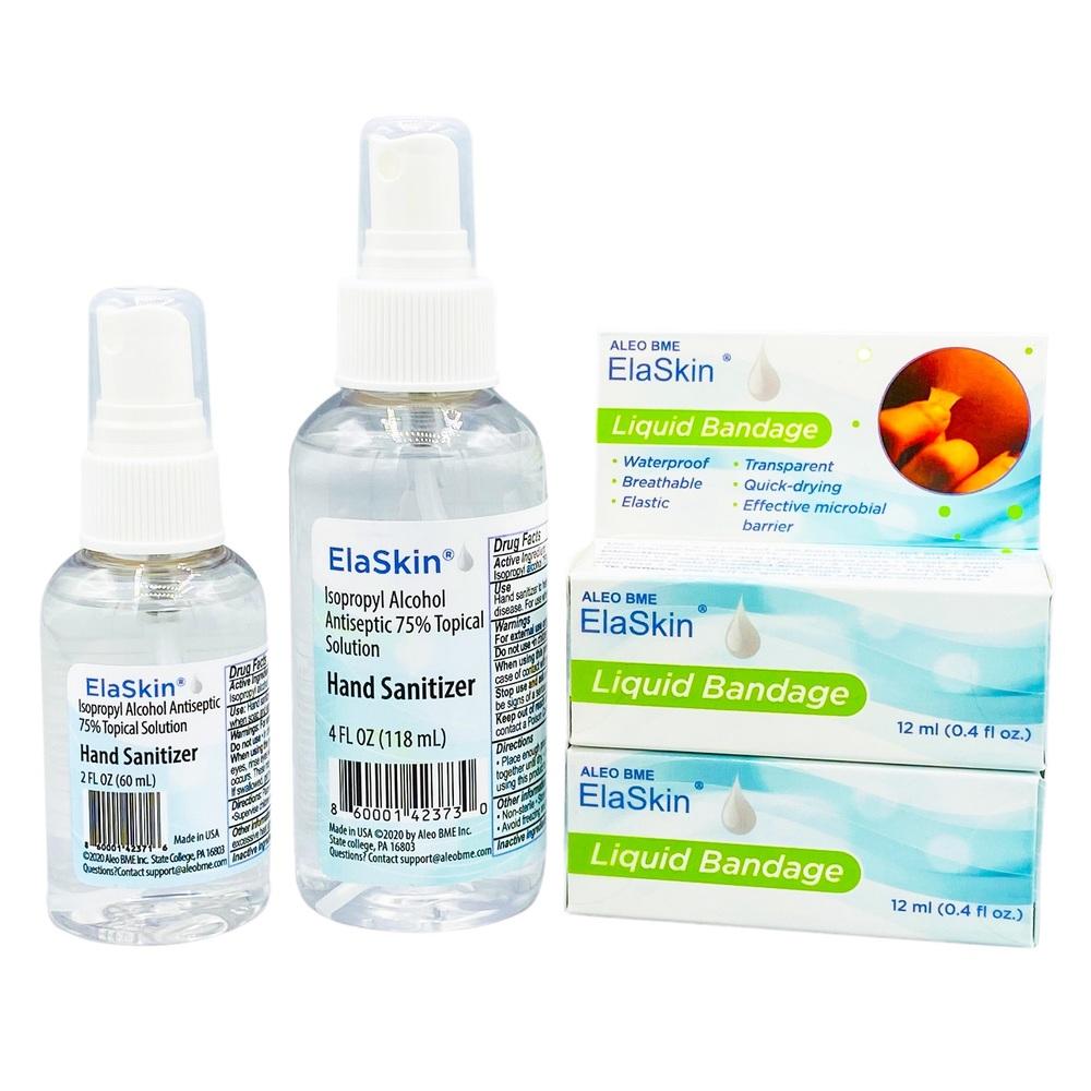 ElaSkin Liquid Bandage and Sanitizer Set- LMT Ed