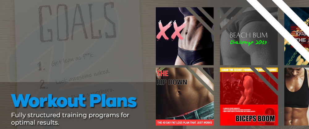 Workout Plans Home