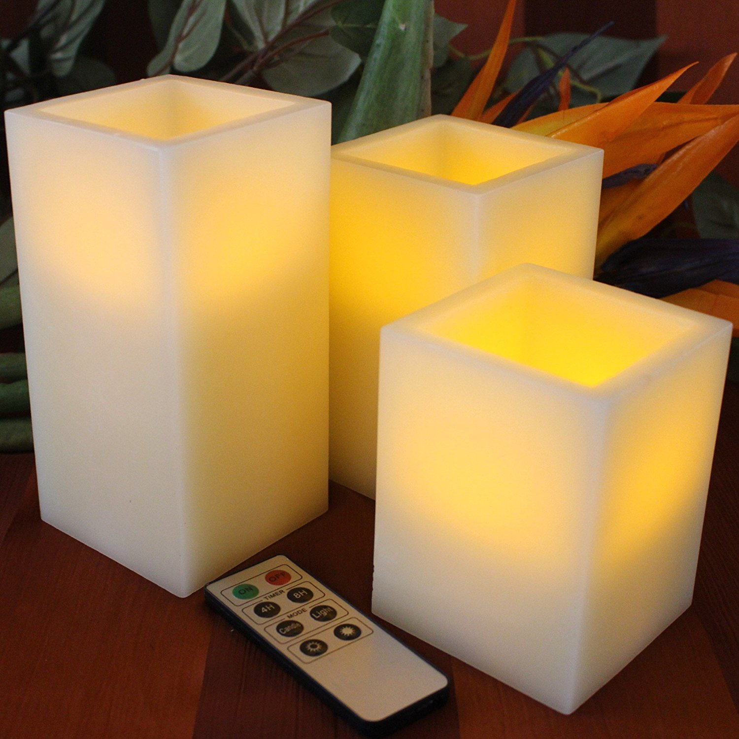 Candles with remote