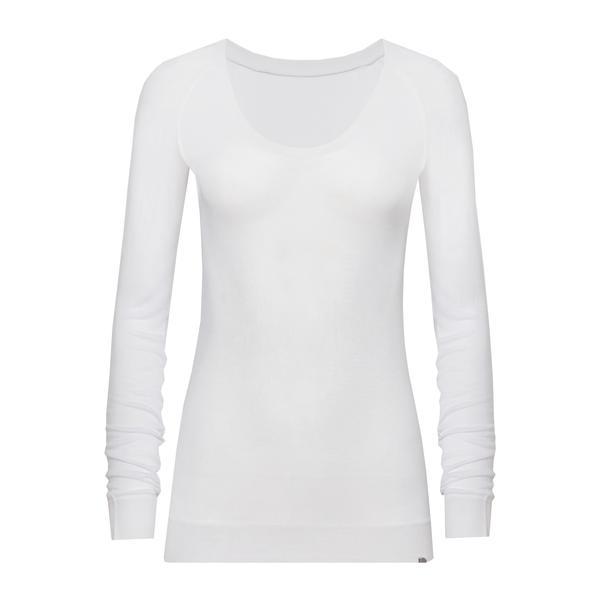 Seamless Cashmere Modal T Shirt White