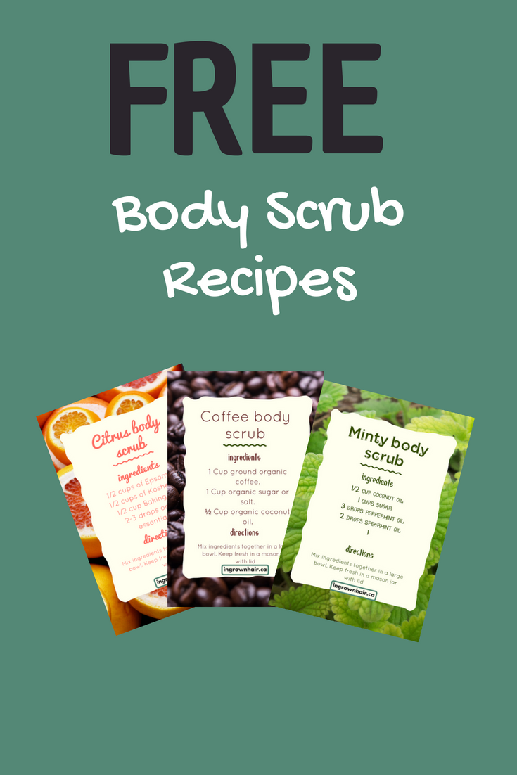 Get your free body scrub recipes