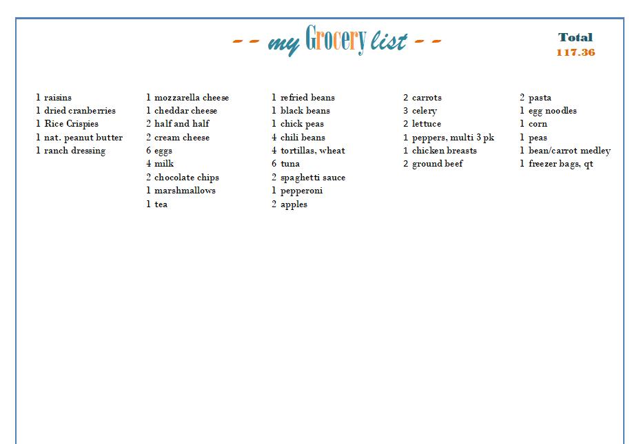 Master Aldi Grocery Price List - Wonder-Filled Days