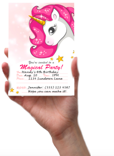 photograph about Free Printable Unicorn Invitations identified as Absolutely free Printable Unicorn Invites - La La Unicorn