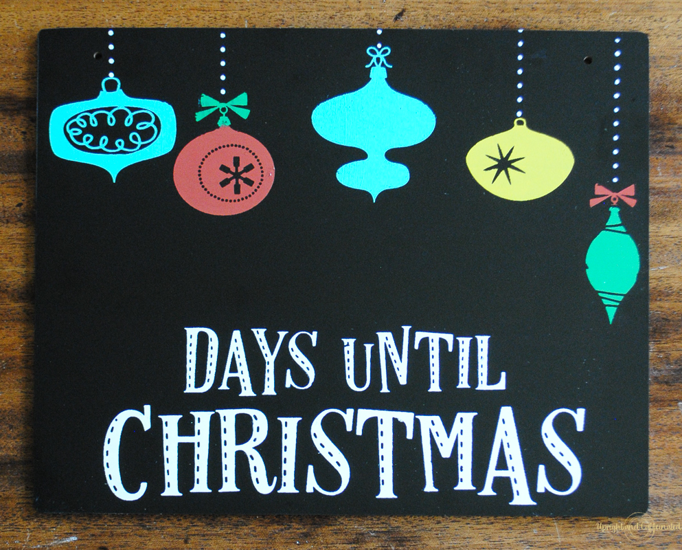 Countdown To Christmas Sign.Christmas Countdown Sign Giveaway Upright And Caffeinated