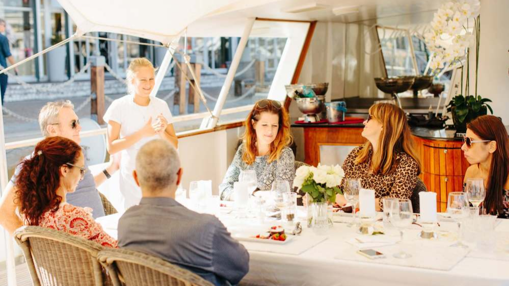 Image of Friends on the Jacki O Luxury Yacht