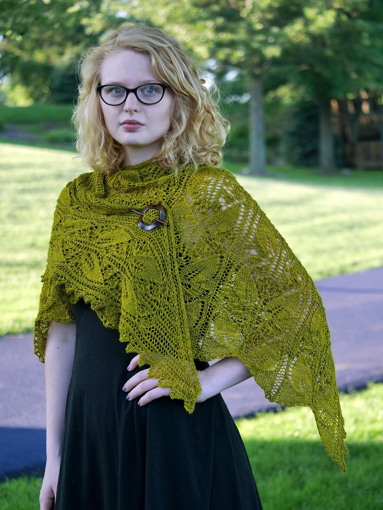 Eve in Eden Shawl